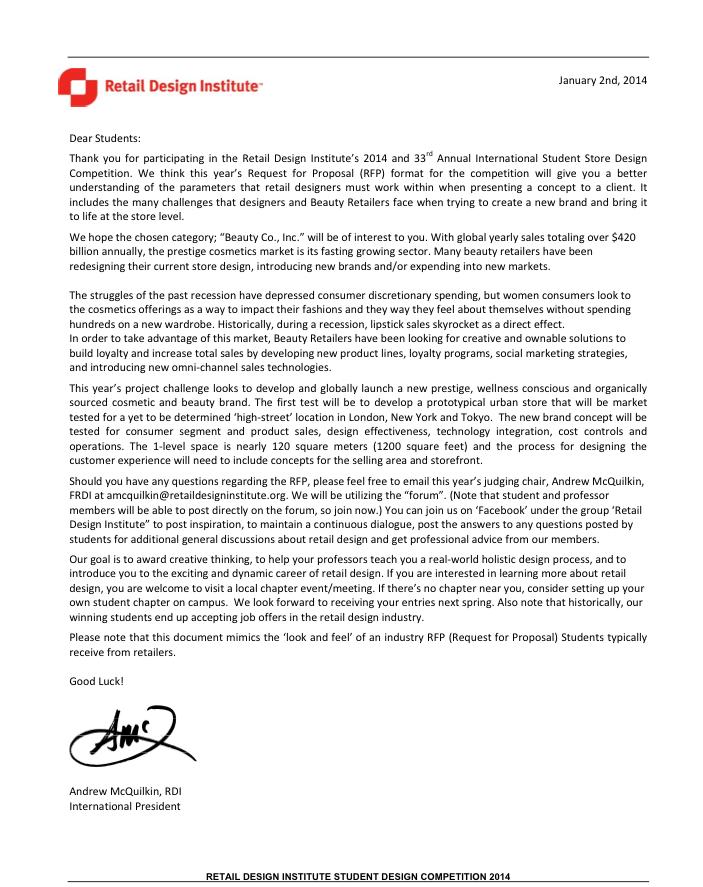 carta del Int'l Ptresident RDI