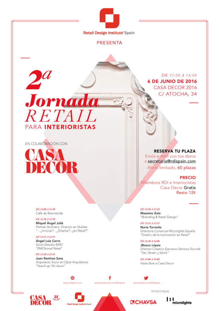 Segundas jornadas Retail para interioristas en Casa Decor Madrid 2016